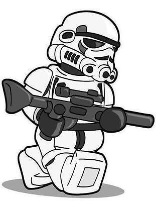 LEGO STAR WARS T SHIRT TRANSFER IRON ON TRANSFER FOR DARK COLORS