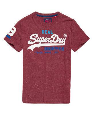 Abile Nuova Linea Uomo Superdry Vintage Logo Tri T-shirt Borgogna Snowy-mostra Il Titolo Originale