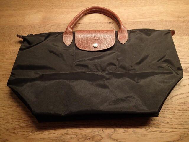 62bc291260a13 NEU + Longchamp Le Pliage M 1623 089 001 Nylon Leder Handtasche Schwarz  BF326736