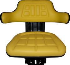 Yellow Tractor Suspension Seat Fits John Deere 2140 2150 2155 2240 2255