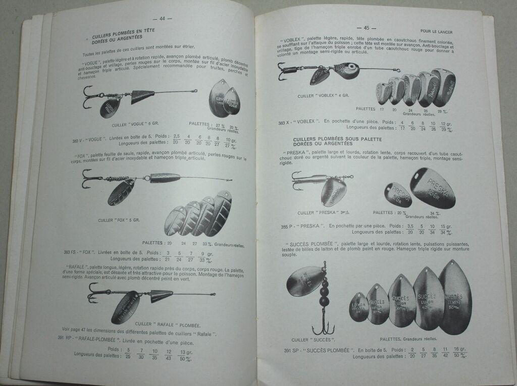 Raro 1954 Pesca Pesca Pesca Deportiva Ilustrado catálogo  les pêches Deportes  Varillas carretes... 430eb7
