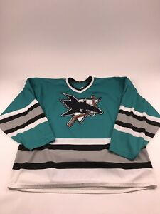 check out e5e94 52272 Vintage San Jose Sharks Men's XL Teal CCM Maska Hockey ...