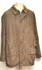 GREAT-MEN-WEATHER-WORKED-BEAUFORT-BARBOUR-JACKET-SIZE-LARGE-BROWN