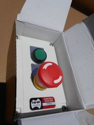 NHP EMERGENCY STOP SWITCH FTS2 PUSH BUTTON CONTROL STATION  TYPE HO H//DUTY