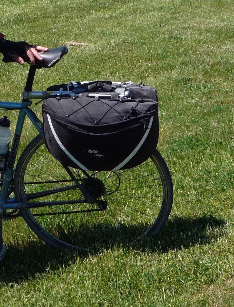 Bike Rear Panniers  Inertia Design   Aero Panniers