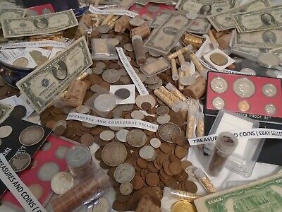 ✯ESTATE SALE LOT OLD CURRENCY COINS ✯GOLD SILVER CERTIFICATE ✯LARGE SMALL MONEY✯