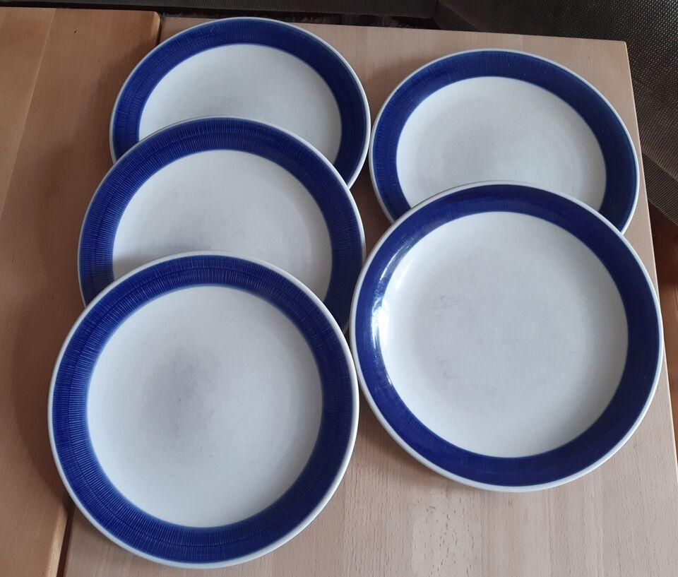 Porcelæn, Middagstallerken , Blå Koka