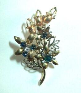 Brillant-Saphir-Brosche-14-K-Gold