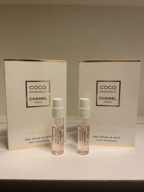 2 x CHANEL COCO MADEMOISELLE L'EAU PRIVEE NIGHT FRAGRNACE Spray 0.05oz /1.5ml EA