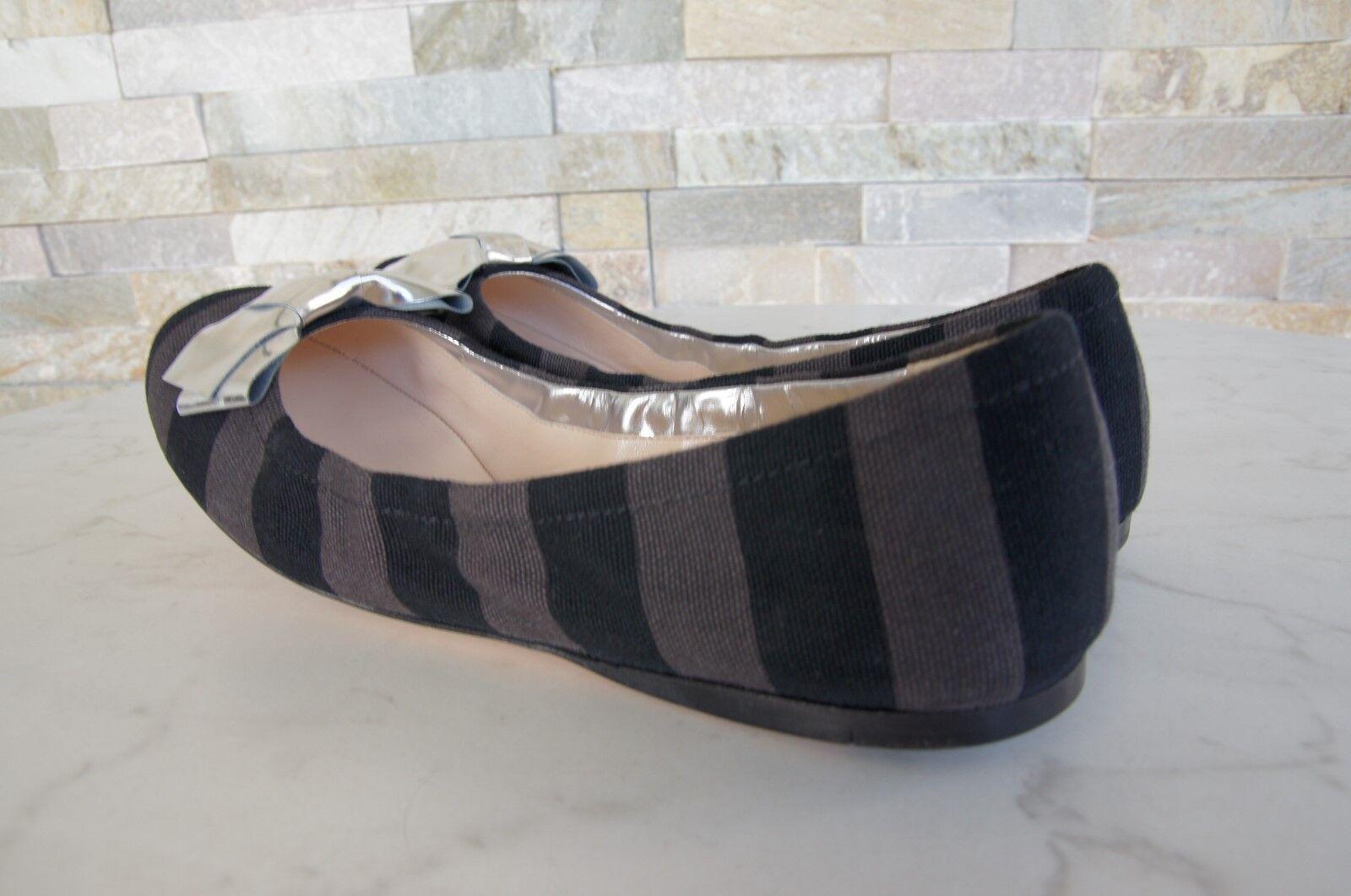 Orig Schuhe Prada Gr 36 Ballerinas Halbschuhe Slipper Schuhe Orig schwarz  grau NEU 320eec