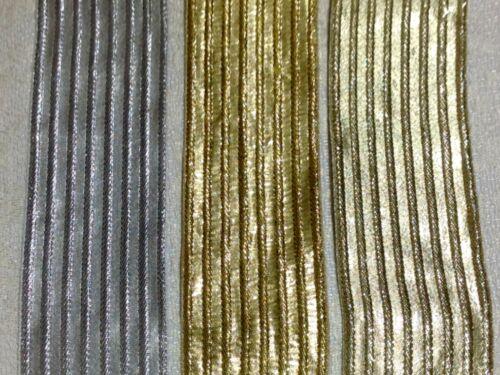 Stylish Gold /& Silver Christmas Craft Border Trimmings //Ribbon Border Sewing