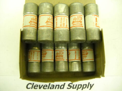 GOULD SHAWMUT A13X60 AMP-TRAP 60A 130V FUSES 10PCS NEW CONDITION IN BOX