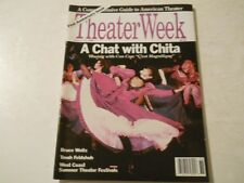 Chita Rivera, Tovah Feldshuh, Delroy Lindo - Theater Week Magazine 1988