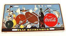Coca-Cola Coke Metall Schild Blechschild USA License Plate American Football