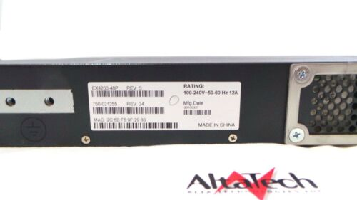 Juniper Networks EX4200-48P 48 Port PoE L3 Switch w// 1x EX-PWR-930-AC PSU