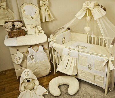 Babybett Mit 10 Tlg Komplett Set Bettwäsche Matratze