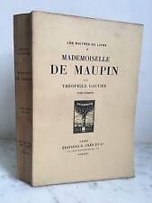 Théophile Gautier Mademoiselle de Maupin Les maitres du livre 1922