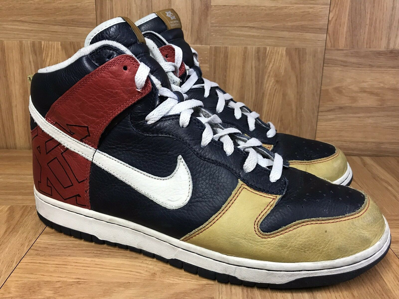 RARE Nike Dunk High Premium UTT Untold Truth Navy bluee Red Sz 12 313462-401 LE