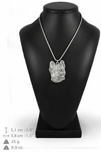 Briard-type-2-silver-plated-pendant-with-silver-cord-Art-Dog-IE
