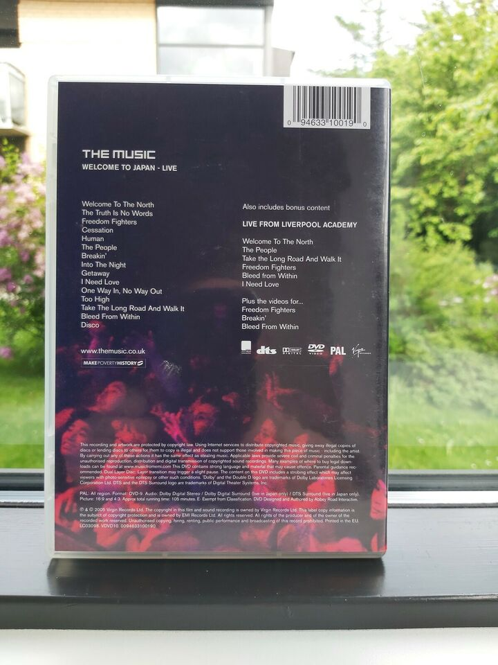 The Music - Welcome To Japan Live, DVD, andet