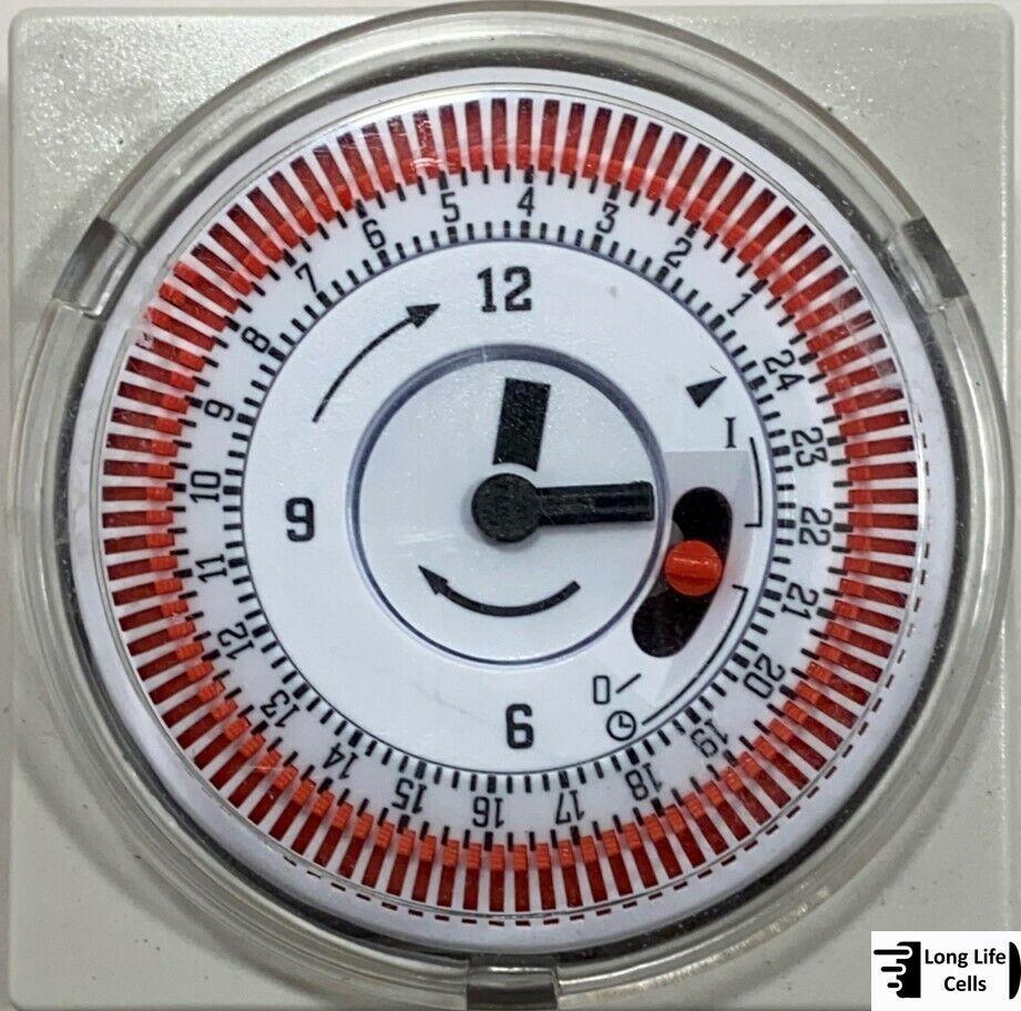 Eaquip battery backup timer time clock chlorinator pool electronic 24hr grasslin