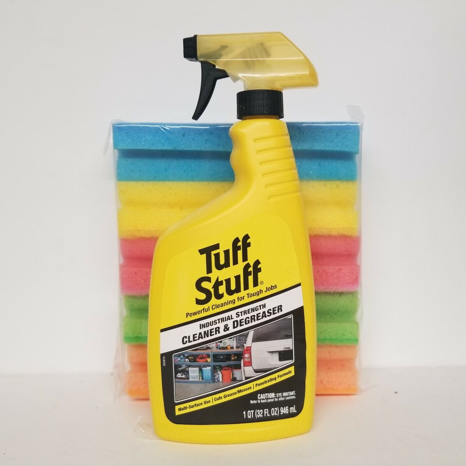Tuff Stuff Industrial Strength cleaner & degreaser 32 oz + 10 Cleaning Pads