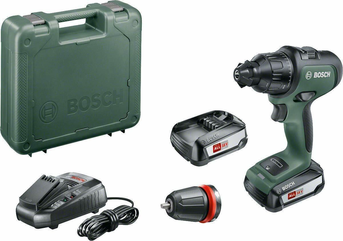 Bosch Heimwerker Akku-Zweigang-Schlagbohrschrauber AdvancedImpact 18, 1 x PBA 18