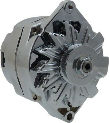 Alternator for 120Amp Chrome 1 Wire Self Exciting Street Rod GM 305 350 BBC SBC