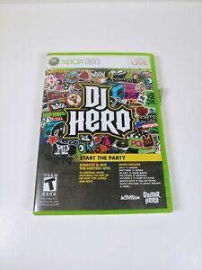 DJ-Hero-Microsoft-Xbox-360-2009-COMPLETE-Tested