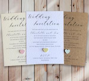 10-Mariage-Invitations-soiree-invite-Personnalise-amp-fait-main-avec-enveloppes