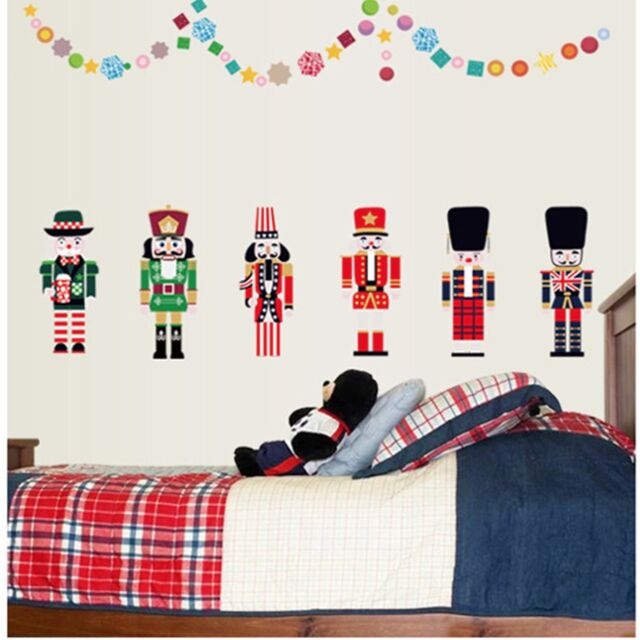 Christmas Nutcracker Home Decor Kids Room Removable Decal Wall Stickers Mural