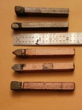 """D12 3//4/"""" 5 pieces C5//C6 Carbide Tipped Tool Bit"""
