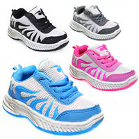 Boys Girls Sports Trainers Toddler Teenager Shoes Size 6 7 8 9 10 Blue 12-0417B