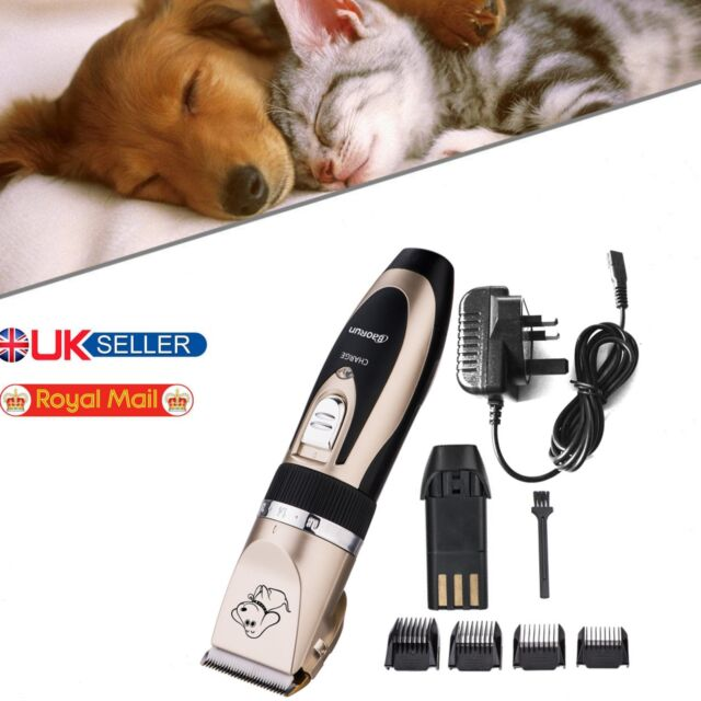 Rechargeable Quiet Cordless Dog Clippers Pet Cat Hair Trimmer Shaver Razor Set