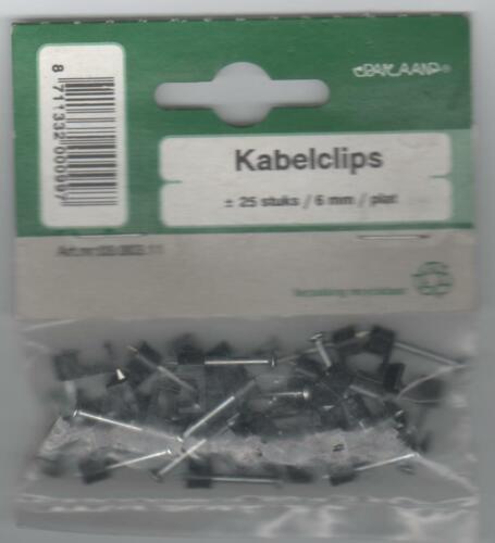 Nagelschelle für 6 mm Leitung 25 Stück in OVP  Schwarz Kabelclips