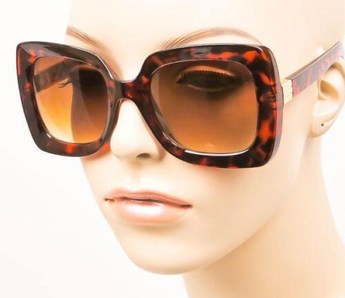 Oversized Square Brown Amber Red Tortoise Pinch Me Large Designer OMG Sunglasses