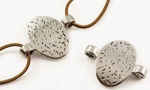 Gastfreundlich Doppelloch Metall Perlen Silber Twist Wikinger Verbinder Spacer 31 Mm Perlen, Schmucksteine &-kugeln Fk00506