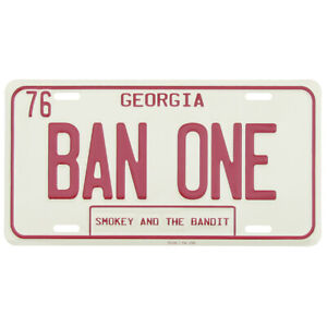 Smokey-And-The-Bandit-BAN-ONE-GA-Metal-License-Plate-US-Made-Car-Truck-Auto-Tag