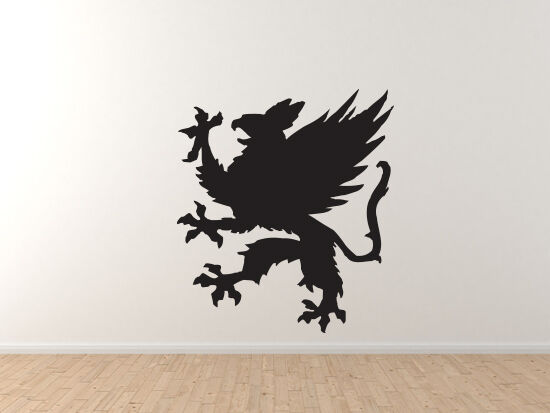 Mythical Creature - Gryphon Griffin  1 Medieval Heraldry - Vinyl Wand Decal