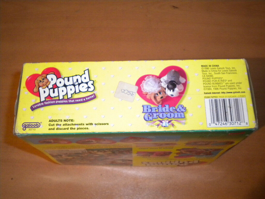 1996 GALOOB POUND PUPPIES BRIDE AND AND BRIDE GROOM WEDDING MIB SEALED c806cc