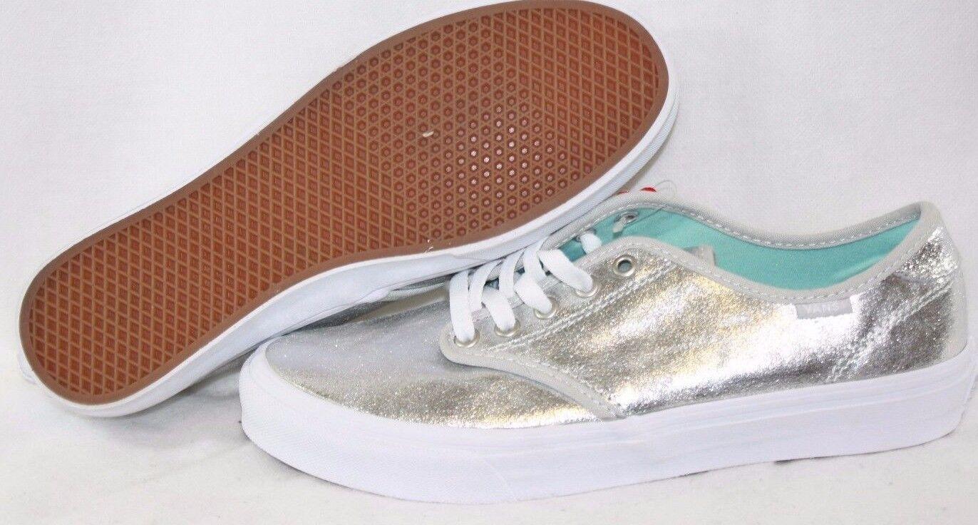 NEU Damenschuhe VANS Camden Metallic Silver WEISS retro style Sneakers Schuhes