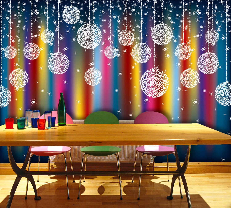 3D Weihnachten Farbmalerei 27 Fototapeten Wandbild BildTapete Familie DE