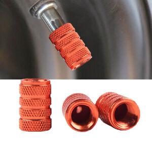 4x Car Orange Aluminum Piston Tire//Rim Valve//Wheel Air Port Dust Cover Stem Caps