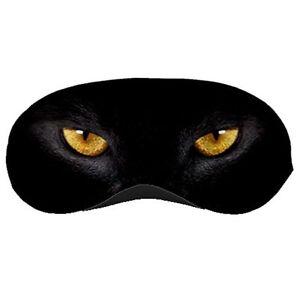 New Black Cat Eye Beautiful Big Cat Eye Printed Sleeping Mask Eye