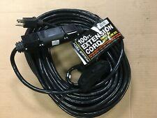100-Foot 12 Gauge Triple Tap Extension Cord UL Lit Ends Contractor Grade Ft