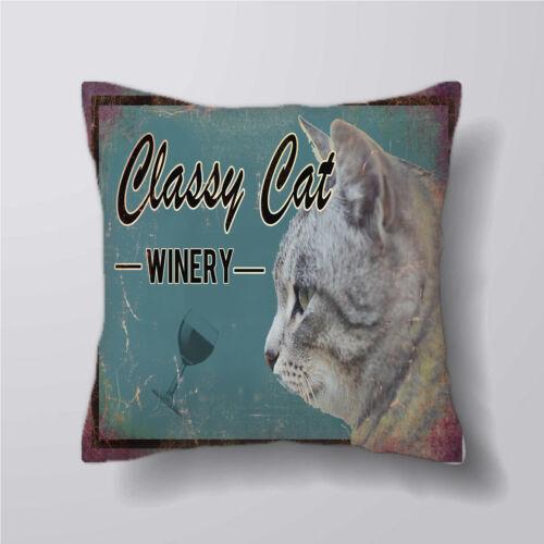 Classy cat cave vin-housses de coussin taies d/'oreiller décoration intérieur