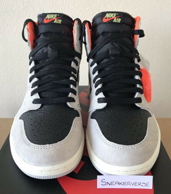 9b1805a07e9 Nike Air Jordan 1 Retro High OG Neutral Grey  Hyper Crimson  UK 11 555088