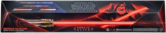 Star Wars The Black Series Emperor Palpatine Force FX Elite Lightsaber - VG