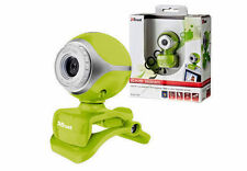NEW TRUST EXIS GREEN CLIP ON WEBCAM, BUILT-IN MIC, PLUG & GO, 3 YEAR WARRANTY