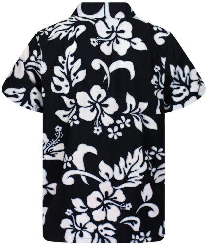Funky Hawaii Camicia HIBISCUS NERO B-Ware